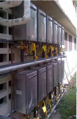 Island West Apartments Rinnai Tankless Bank