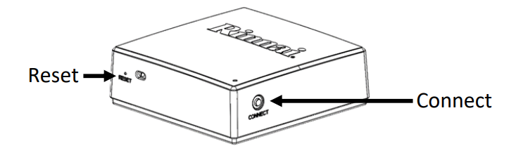 Control-R connect and reset button diagram.