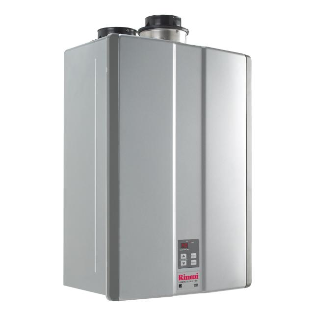 RINNAI C199iN (KBD3237FFUDC) COMMERCIAL CONDENSING TANKLESS WATER HEATER, FORCED COMBUSTION, INDOOR ONLY, DIRECT ELECTRONIC IGNITION, 15,200 - 199,000 BTU/h